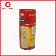 Customized Building Block packaging Kraft Cardboard Tube