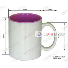 color inside sublimation mugs