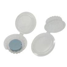 Caixa de embalagem transparente em blister redondo de cera derretida