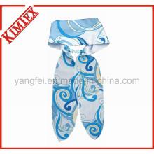 100% poliéster moda impressão headscarf