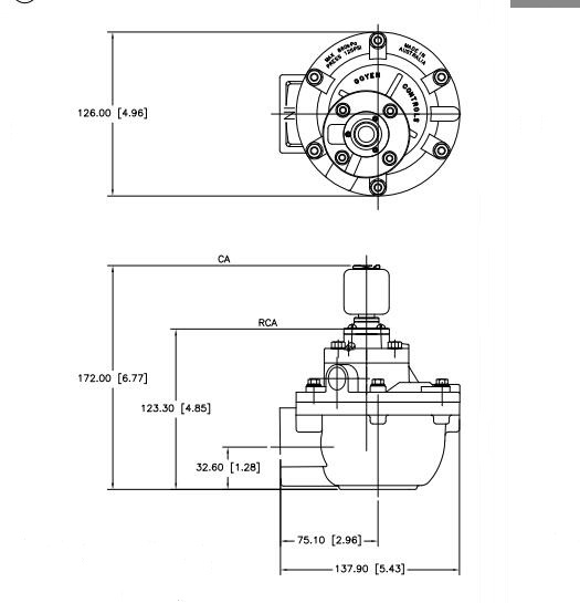 CA45T dimensions