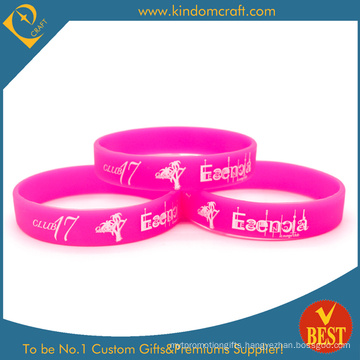 2014 Wholesale Printed Silicone Wristband&Bracelets with Solid Color (KD-1801)