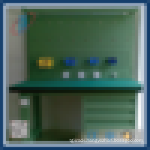 Hardware tool rack with plastic board