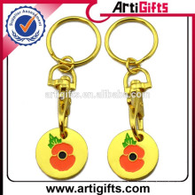 2015 Promotion metal trolley coin key holders