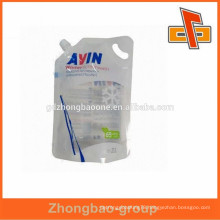 customized clear winter screen wash spout plastic pouch bags and handles