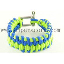 green and purple U shape buckle 550 paracord bracelet