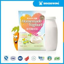 Sabor de frutas yogurt bulgaricus iogurte