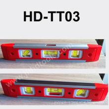 HD-TT03 mini plastic spirit level ,magnet