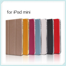 Bling Diamond Studded Leather Stand Case for iPad Mini