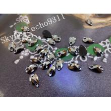 Kristall nähen auf Steinen 2015 Tropfenform 7 * 12mm (DZ-3065)