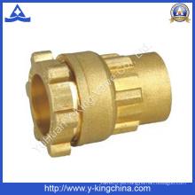 Hembra hilo de latón de compresión de acoplamiento de accesorios de tubería (YD-6050)
