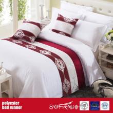 Chemin de lit de tissu de décoration de poly fournisseur