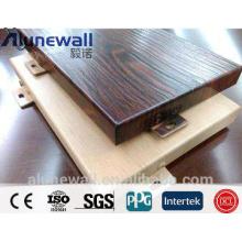 panneau mural en bois pour extérieur / 2m largeur panneau en bois composite en aluminium
