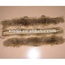 natürliche Farbe 4 * 80 cm für Jacke Kapuze Waschbär Pelzbesatz