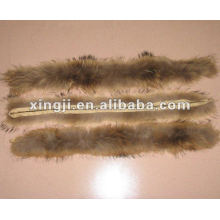 natural color 4*80cm for jacket hood raccoon fur trimming