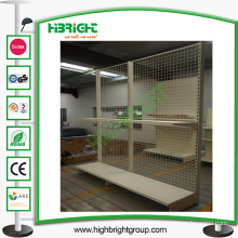 Wire Mesh Back Panel Supermarket Shelf Display Rack for Sale