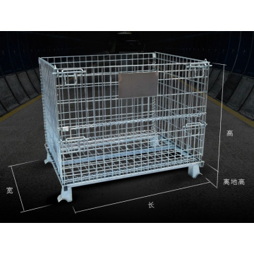 High Quality Wire Mesh Warehouse Cage Container Trolley