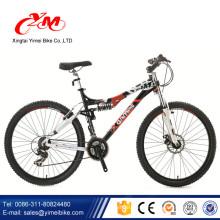 Alibaba passent CE certificat vélos montagne / bonne qualité 26 pouces descente vélo / mens VTT à suspension complète à vendre