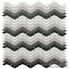 Multi-colors Chevron Recycled Glass Mosaic Design