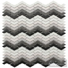 Многоцветный дизайн мозаики из переработанного стекла Chevron