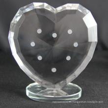 Trofeo de corazón de cristal personalizado de fabricación de fábrica para souvenirs