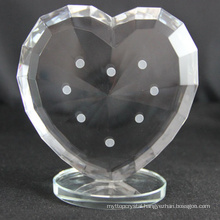 Factory manufacture various custom crystal heart trophy for souvenirs