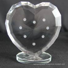 Fabricação de fábrica vários troféu de coração de cristal personalizado para lembranças