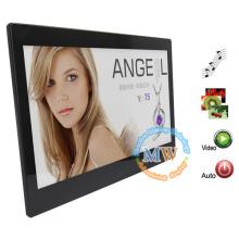 Video, MP3, imagen multi función 13.3 pulgadas súper delgado marco de fotos digital