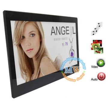 boucle vidéo, photo, musique, cadre photo numérique de MP3 multi fonction 13 pouces