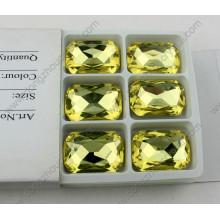 Grânulos de cristal decorativos do octógono Dz-3008 para acessórios da jóia
