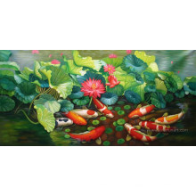 Pintura al óleo animal pintada a mano en el arte de la lona