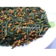 Коричневый рис зеленый чай