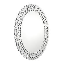 Oval shape classical clear mirror hanging mirror