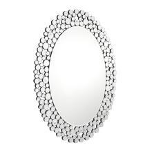 Miroir suspendu classique de forme ovale