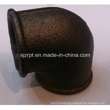 "1-1/4"" Malleable Iron Pipe Fittings Beaded Black Elbow Without Ribs"