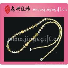 Mode en gros en cristal Lunettes Lanyard perles bijoux