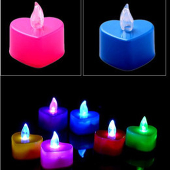Flameless Heart-Shaped Tealight candle dengan LED