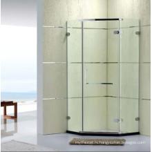Санитарные изделия Австралийский стандарт Безрамная простая душевая комната с шарниром (P14)