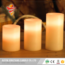 LED rechargeable color remote control candle light