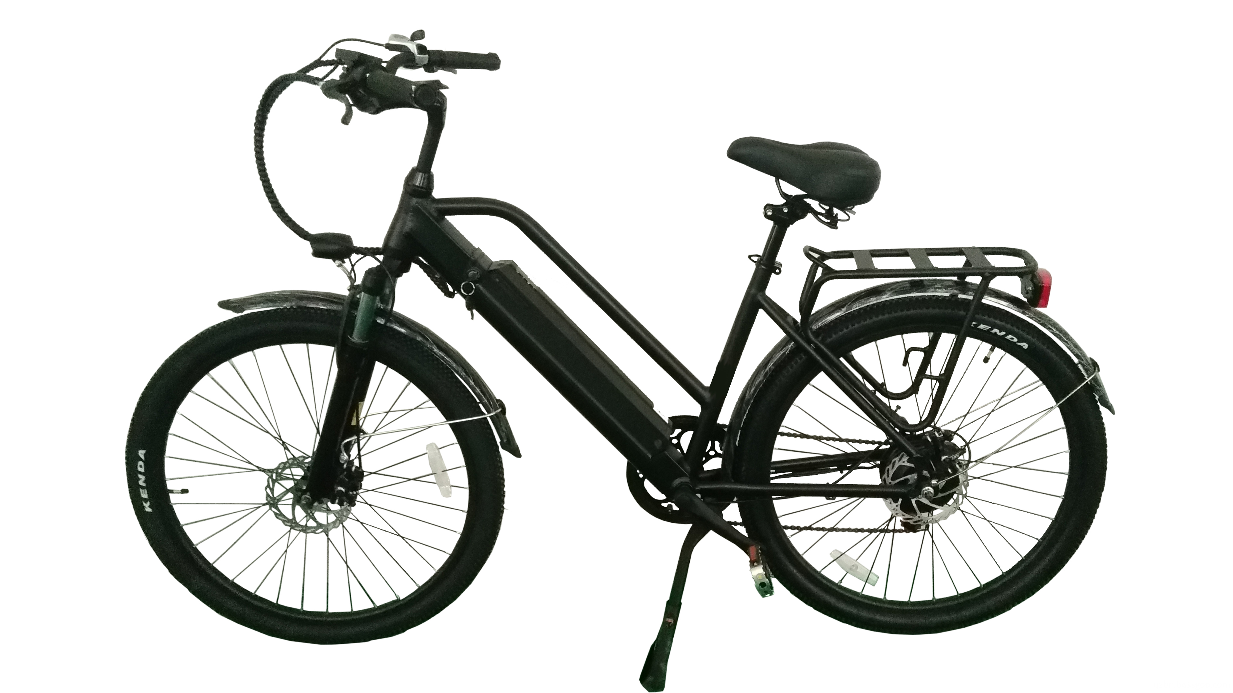 Lithium electric bicycle with switch horn