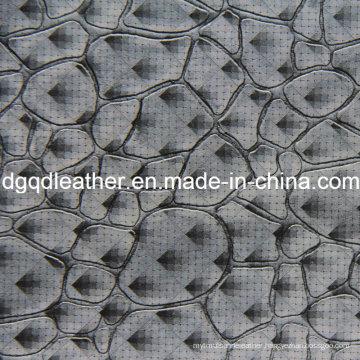 Fashion Stone Pattern Decoration Furniture Leather (QDL-51384)