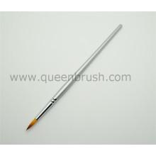 Private Label prata escova de pintura de unhas escova de pintura de uñas de madeira