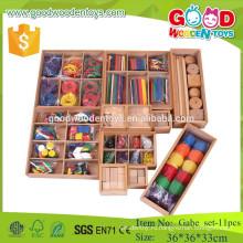11pcs froebel подарок gabe игрушки деревянные учебные пособия для детей