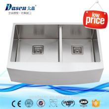 Handgemachte Doppelschürze Front Kupfer Küchenspüle 3322 neu auf dem Markt