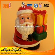 Decorativa de Natal esculpida Santa em forma de vela de Natal