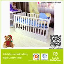 Cunas de bebé de madera de pino sólido nuevo diseño
