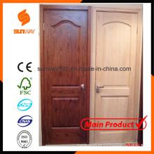 El diseño popular de la puerta de madera sólida con precio competitivo