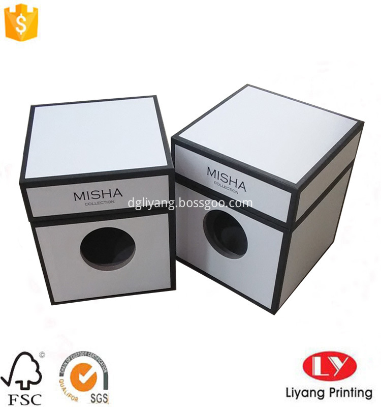 white candle cardboard box
