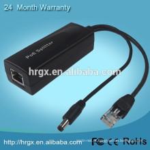 Bom preço 802.3af POE splitter para Power-Over-ethernt fonte de alimentação RJ45 POE Injector