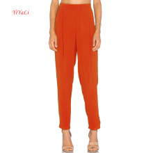 Bright Orange Slim Leg Opening Fashion Pants